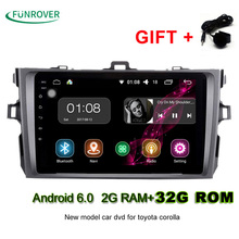 "2017 Limited 2g+32gb 8"" 2 Din Car Radio Dvd Gps Player Android 6.0 Indash For Toyota Corolla 2007 2008 2009 2010 2011 1024*600(China)"
