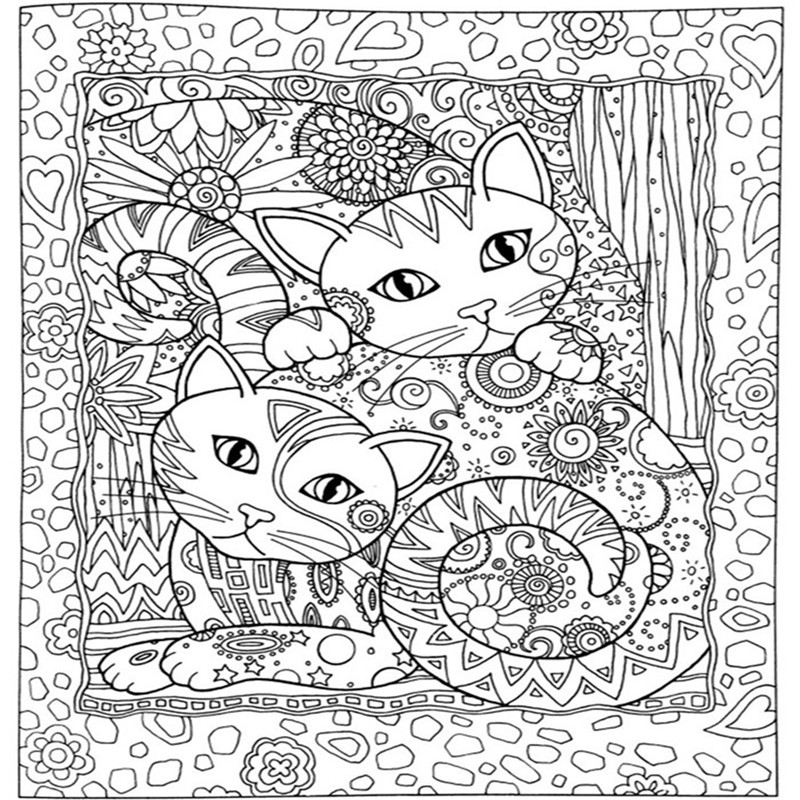 Creative Haven Cats Coloring Books For Adults 24pages