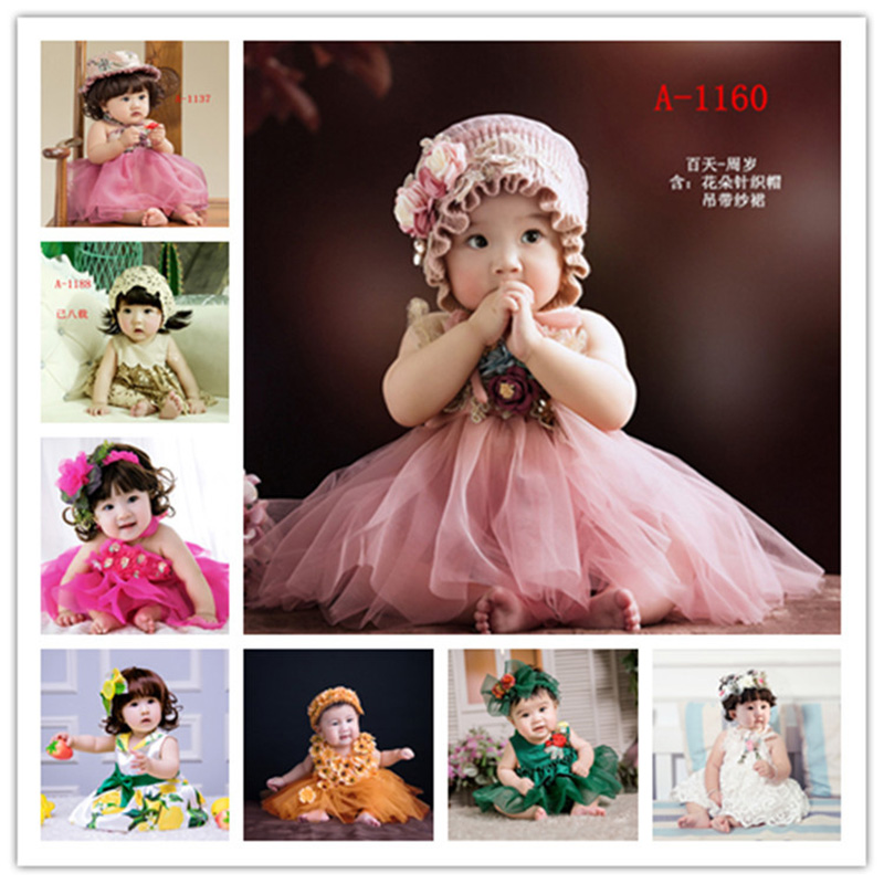 Baby Girl Photography Headband+Lace Dress Clothes fotografia Accessories Baby Photo Shoot Studio Posing Outfits Props Costume|Hats & Caps| |  -