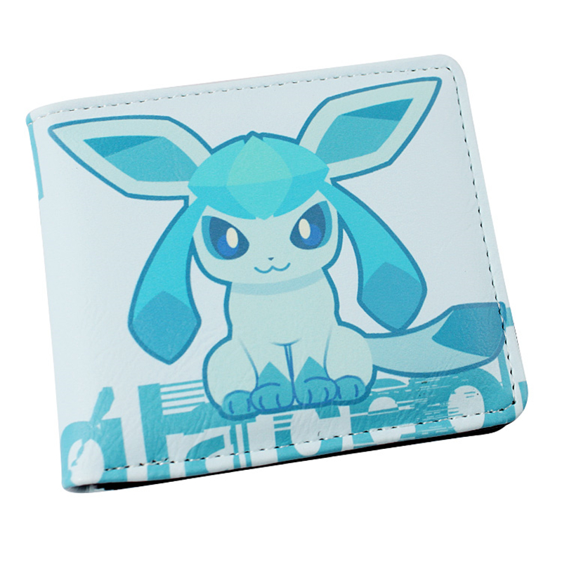 Anime Cartoon Wallet Pokemon Go,Pocket Monster, ice fairies two fold Wallets peripheral Card Coin Pocket Monster Men Purse