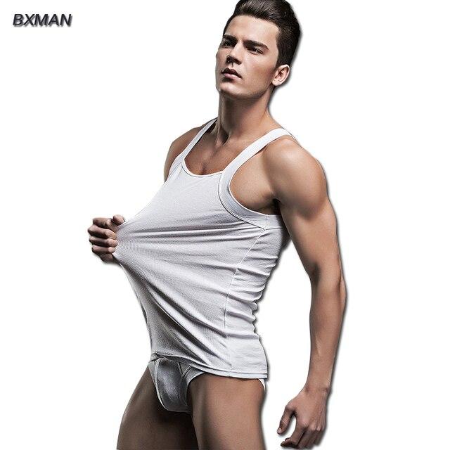 e0453916 BXMAN Brand Men's Casual Pajamas Sexy Homewear Men Cotton Solid Square  Collar Sleeveless Sexy Cueca Pajamas Sets Modal 56-in Pajama Sets from  Men's ...