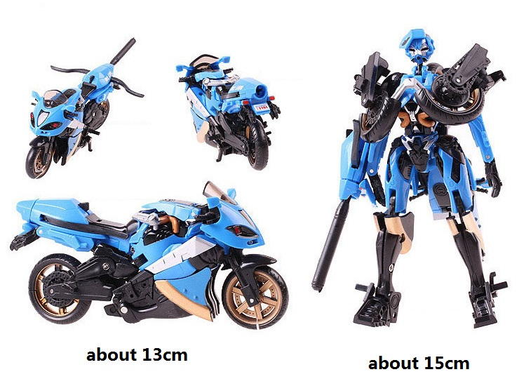 Transformation Robot Super Blue Motorcycle ABS Figures For Children Christmas Gift jim davis business transformation a roadmap for maximizing organizational insights