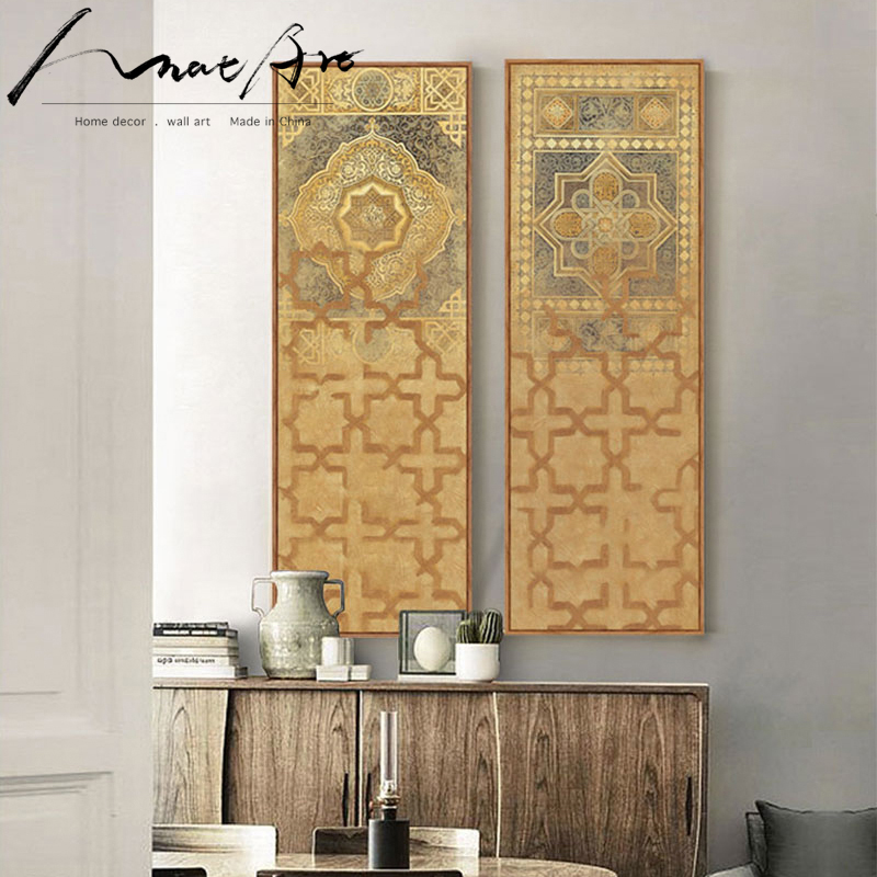 US $12.5 |Middle East Turkey Moroccan style Long canvas painting for living  room wall home decor tableau decoration murale duvar tablolar-in Painting  ...
