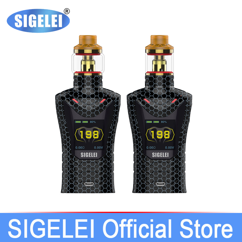 Newest Sigelei sobra vape kit super power 200w MOD with Moonshot T120 tank electronic cigarette kit electronic