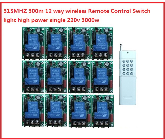 3000w 300m 12 way wireless Remote Control Switch light high power single 220v water pump controller  цены