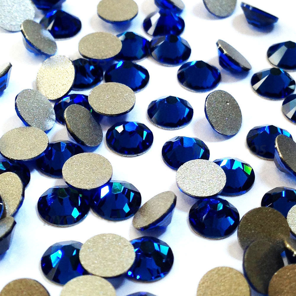 SW 243 Blue Non Hot fix Rhinestones Flat back Crystals Stone Crystal Glitter Rhinestones Garment Nail Art Decoration in Rhinestones from Home Garden