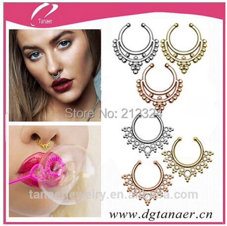 Septum Piercing Jewelry Types Famous Jewelry Designers