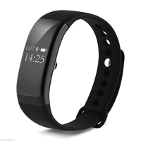 Waterproof Bluetooth For Smart Watch Intelligent Heart Rate Bracelet Information Shows Sport Fitness Tracker LED Touch