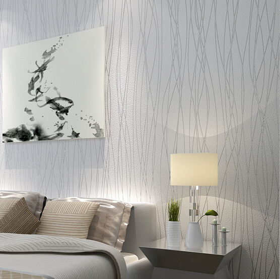 2015 New Modern Elegant Stripes Bedroom Non woven Silver Glitter Wallpaper  TV Wall Paper Mural. Compare Prices on Wallpaper Bedroom Silver  Online Shopping Buy