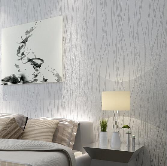 2015 nova listras moderno elegante quarto n o tecido - Papel pared moderno ...