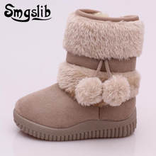 Children Girls Fur Boots Winter Thick Warm Snow Boots Plush Boys 2018 Wool Lining Leather Boots Baby Outdoor Toddler Ankle Boots диплом сувенирный эврика технический паспорт невесты a5 цвет белый 93464