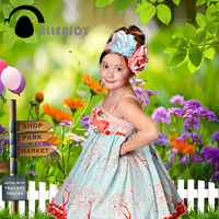 Allenjoy Photographic Background Balloon Woods Grass Blur Backdrops Newborn Kids Photo Photocall 10x20