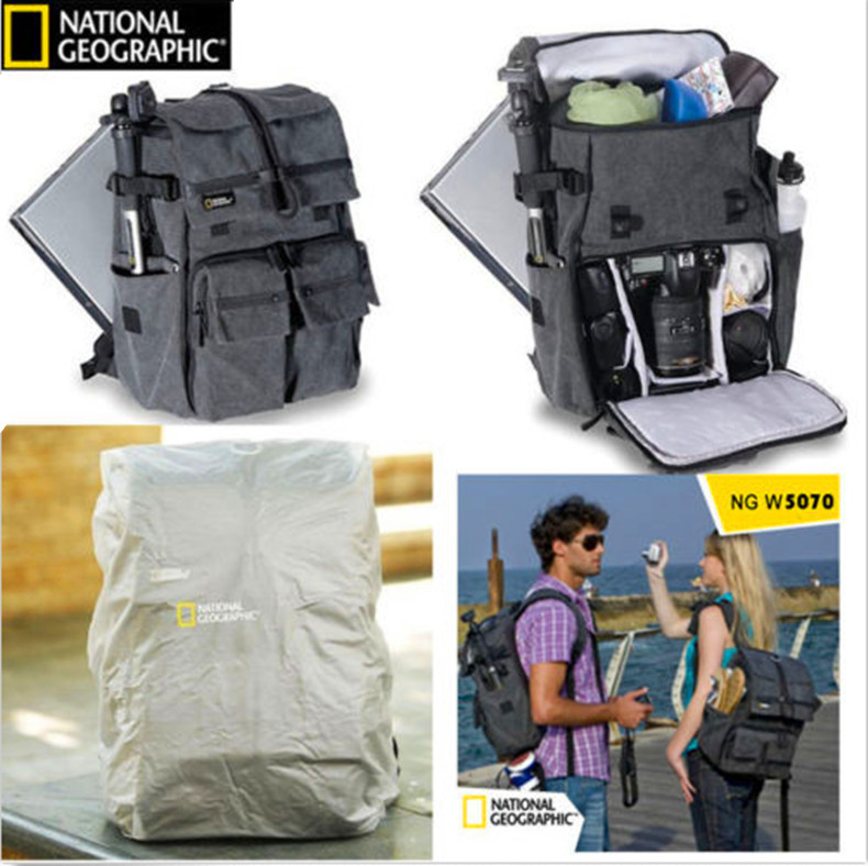 High Quality  Camera Bag NATIONAL GEOGRAPHIC NG W5070 Camera Backpack Genuine Travel Camera Bag national geographic ng rf 5350 camera bag digital video camera backpacks portable camera protection photography accessories bag