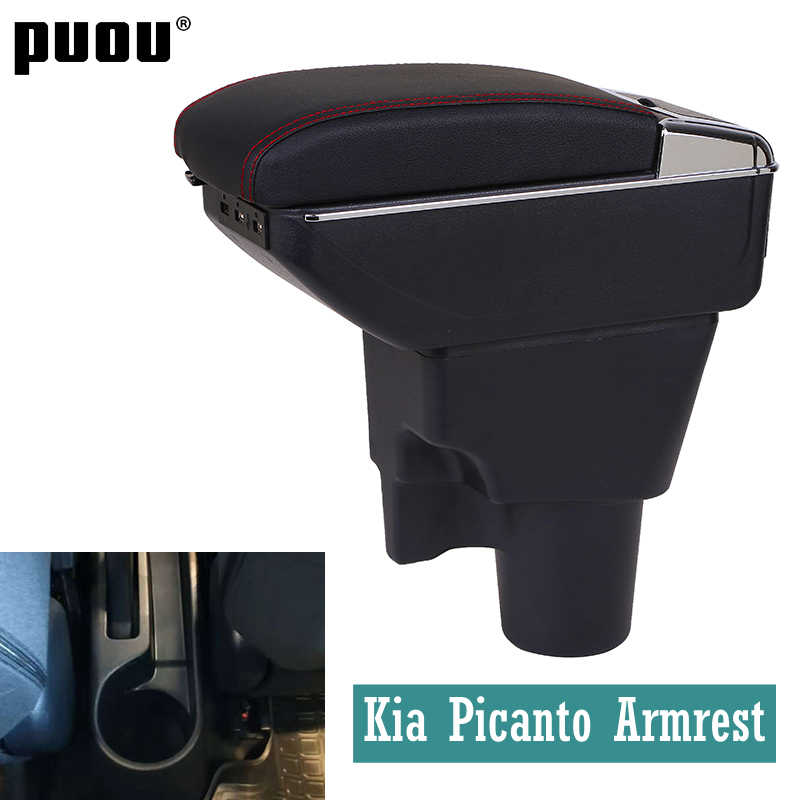 Armrest for Kia Picanto central Store content Storage box with cup holder ashtray Russian version Automotive