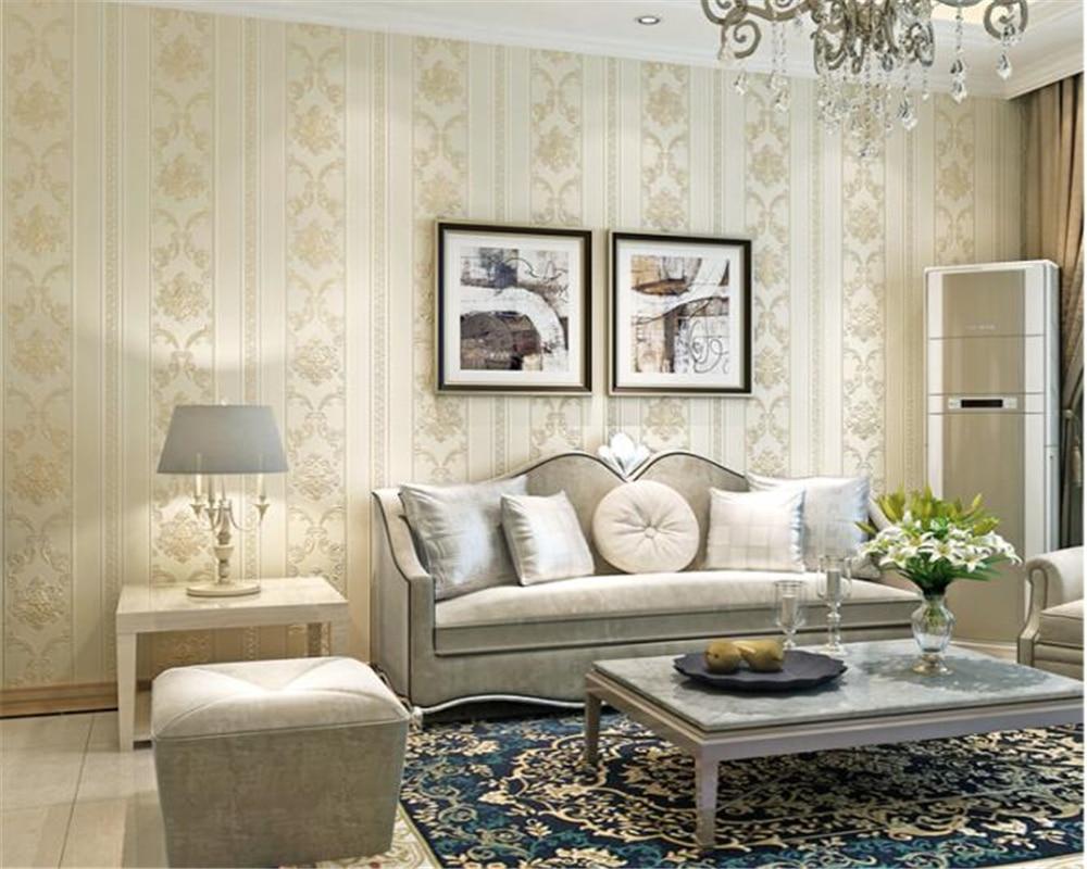 Beibehang Style européen en relief fleurs papier peint pour murs 3D luxe chambre décor salon canapé bleu moderne papier peint - 5