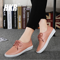 HKR 2017 spring women ballet flats casual flat shoes soft leather dress shoes ladies lace up brand loafers flats shoes B16