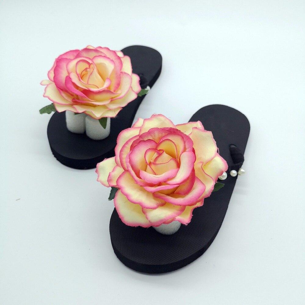 Hahaflower Indah Bunga Mawar Keren Musim Panas Wanita Sandal Fashion Wanita Perjalanan Pantai Sepatu Tahan Air Rumah Kasual Sandal Sandal Jepit Aliexpress