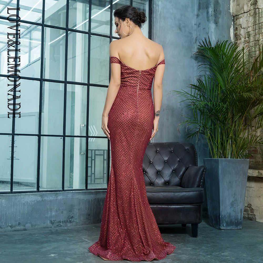 Love & Lemonade сексуальное платье с открытым задним клеем из бусин длинное платье LM81343-2WINERED
