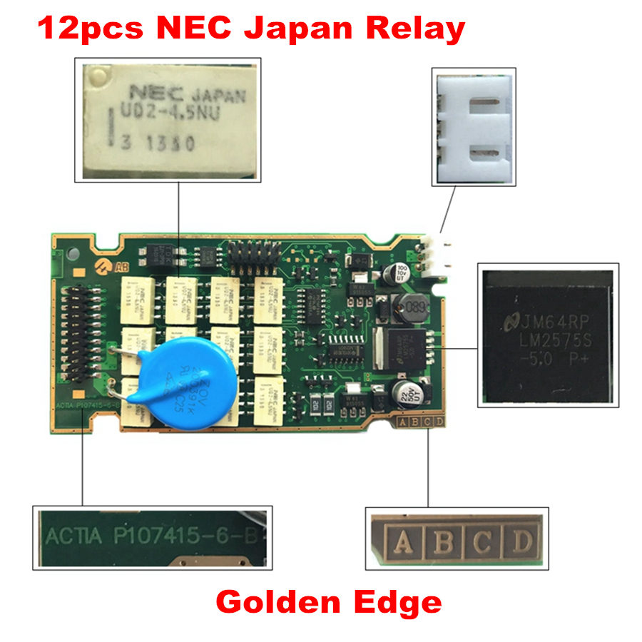 Image 2 - Newest Diagbox 7.83 Lexia3 A+Quality Full Chips 12pcs Relay 7pcs Optocouplers FW 921815C Lexia 3 PP2000 +PSA 30PIN+S.1279 Moduel on