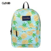 Ou Mo brand waterproof Appliques pineapple laptop backpack anti theft school Bag teenagers man computer Backpack Women