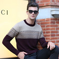 Autumn And Winter Men's Leisure Sweater Men's Sweater O-Neck Stripe Joker Sable Woollen Sweater