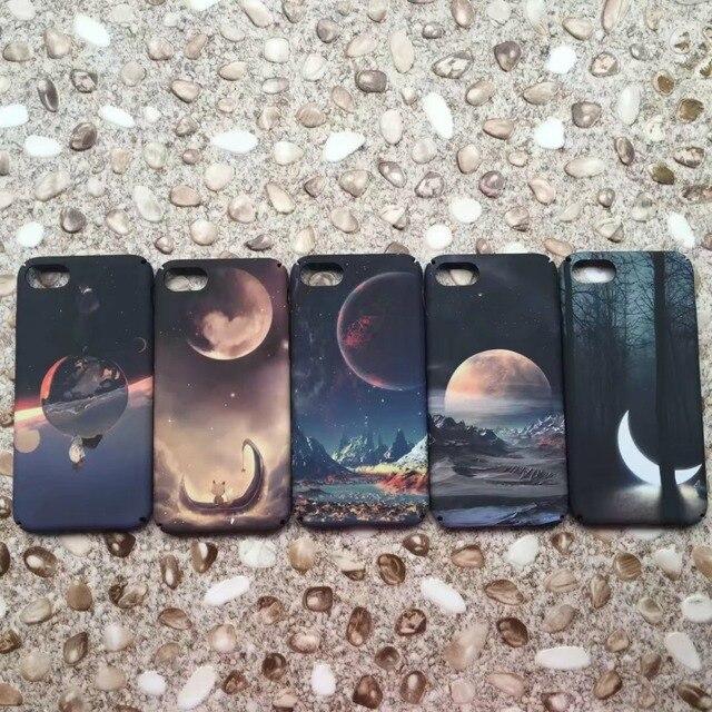 Funda de PC dura mate para iphone 6 6plus planet Moon para iphone 8 8 plus 7 7 Plus funda para iphone X XS