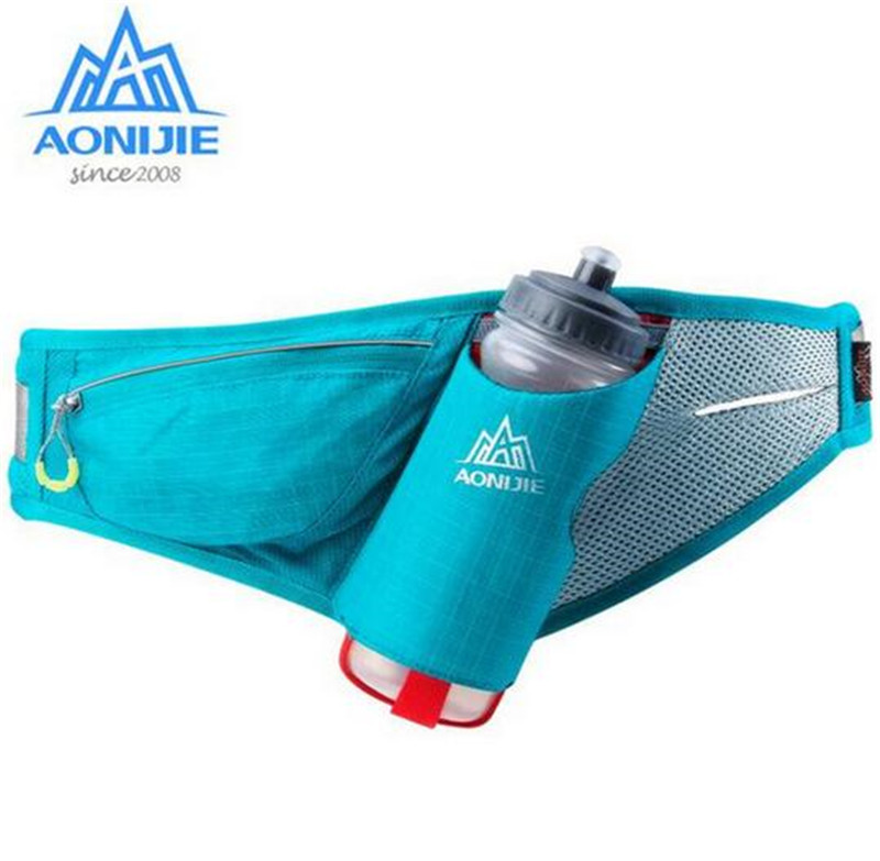 AONIJIE Women Men Running Accessories Fanny Pack Marathon Waist Packs Running Accessories Waterproof Nylon Bag