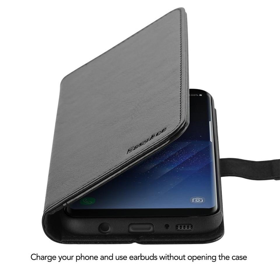 Samsung S8 Case շքեղ կաշվե դրամապանակի - Բջջային հեռախոսի պարագաներ և պահեստամասեր - Լուսանկար 2
