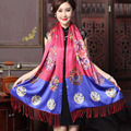 Spring and Autumn necessary Digital Printing double layer Brushed shawl Big names European and American fashion Silk Scarves