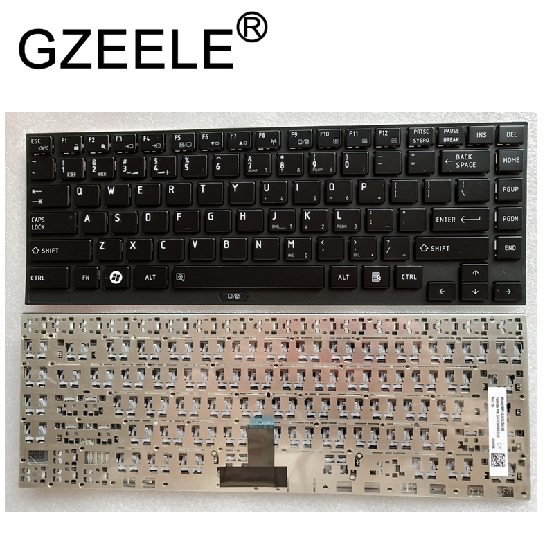 GZEELE US New US English Laptop Keyboard For Toshiba Portege R930 R935 Satellite R630 BLACK