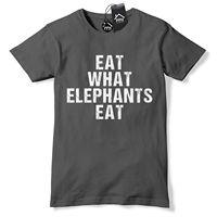 Eat What Elephants Eat T Shirt Funny Animal Vegetarian Vegan Tshirt Food Tee 620 free shipping cheap tee Fashion Style Men Tee