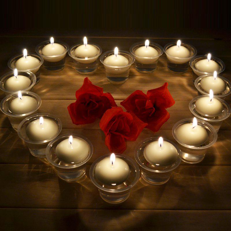 velas flotantes de agua multicolor decoracin del hogar de cumpleaos de la boda del partido dedals