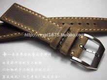 купить Handmade high quality Classical Genuine Leather Watchband 22 mm 21 20 mm watch accessories watch Straps Vintage Watch Bracelet по цене 1406.18 рублей