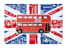 Floor Mat The British Flag London Bus City Style Print Non-slip Rugs Carpets For Indoor Outdoor Living Room