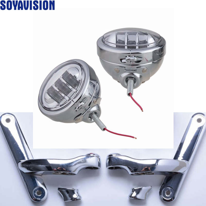 Harley accessories 4.5 inch Housing Bucket and Mounting Brackets turn signal For Harley Street Glide 4.5