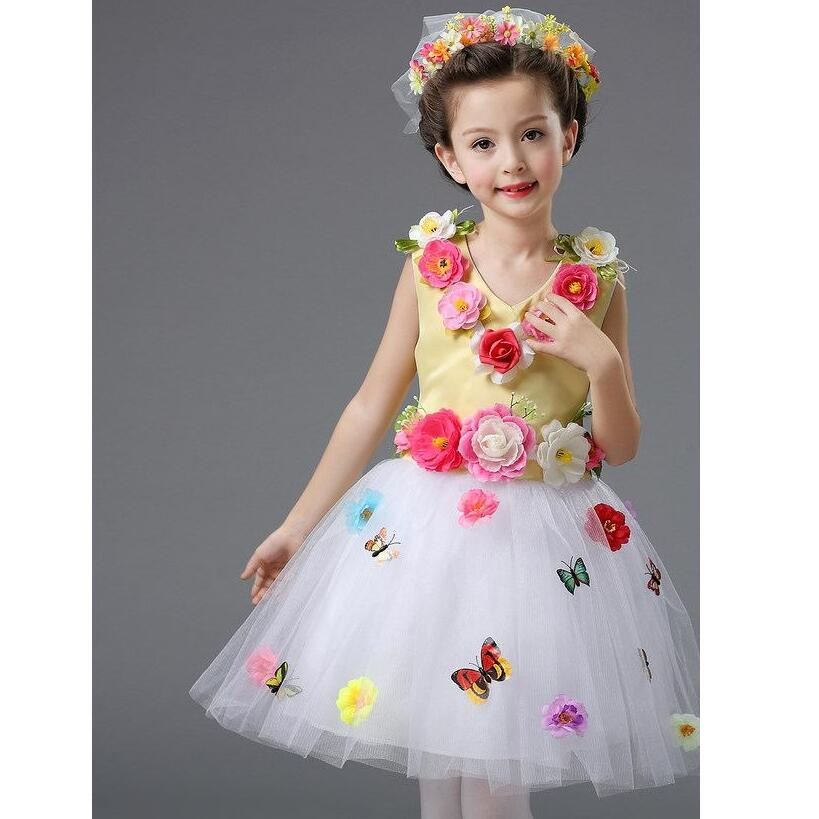 clothing dance dress for girls Princess dress Student choir clothing child modern dance costumes for kids TB7085