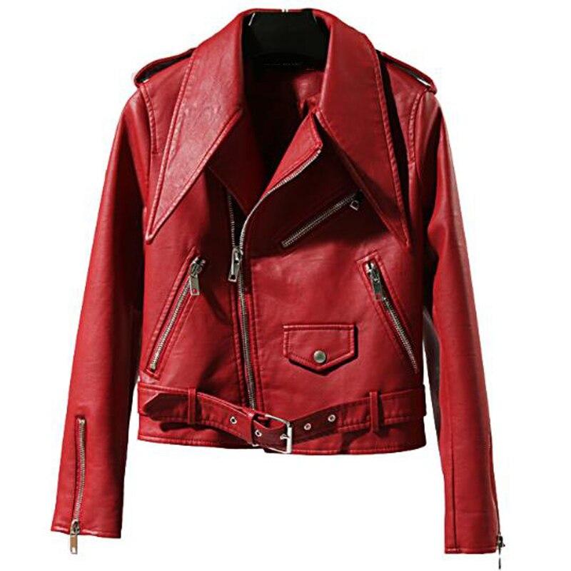 European Style Women Short Dress Suit   Leather   Jacket and Coats Brand Designer Automotive   Leather   Jacket Woman Streetwear A536