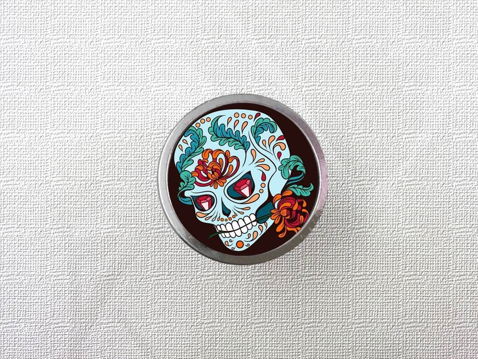 Retro Flower Skull Head Knobs Drawer Dresser Knob DIY Cupboard Knob Vintage Kitchen Cabinet Door Handle Furniture Hardware retro vintage kitchen drawer cabinet door flower handle furniture knobs hardware cupboard antique metal shell pull handles 1pc