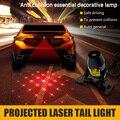 100% Cauda Do Laser Carro À Prova D' Água DC 8 V-36 V A Laser Luzes de Nevoeiro Auto Freio de Estacionamento Luzes de Advertência Do Carro Styling Acessórios Para Todos carro