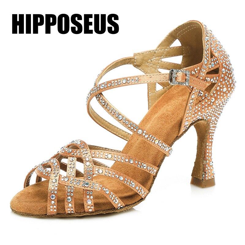 Chaussures de danse latine de salon strass Tango Salsa nouveaux arrivants en gros femmes/filles/dames talons minces danse professionnelle