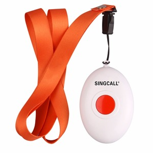 Image 4 - SINGCALL Wireless Nursing System, Medical Call Pager, Panic Button, Oval Rounded Shape Bell with the Necklace APE160
