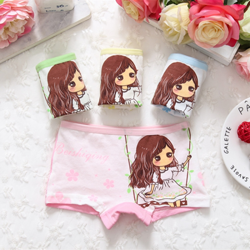 Children Panties Girls' Briefs Female Child Underwear Baby Girl Cotton Sweet Design Panties Children Clothing 1PCS