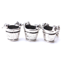 14mm Charms Fabulous Bucket Jewelry-Accessories Findings-Making Silver-Color Antique