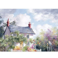 KISSMYTWINS Countryside DIY Oil Painting By Numbers Digital Oil Painting Kits Fr