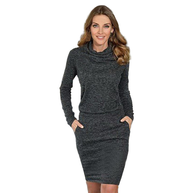 0f3e2e26492 Mini Pencil Business Dress Womens Ladies Fashion Winter Package Hip Slim  Dresses Vestido Mujer Verano 2018 Dantel Elbise  20