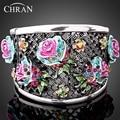 Chran New Platinum Plated Zinc Alloy Women Lover Rose Flower Vintage Hollow Bangles Bracelets FREE SHIPPING (Dragon DDFJAB2013)
