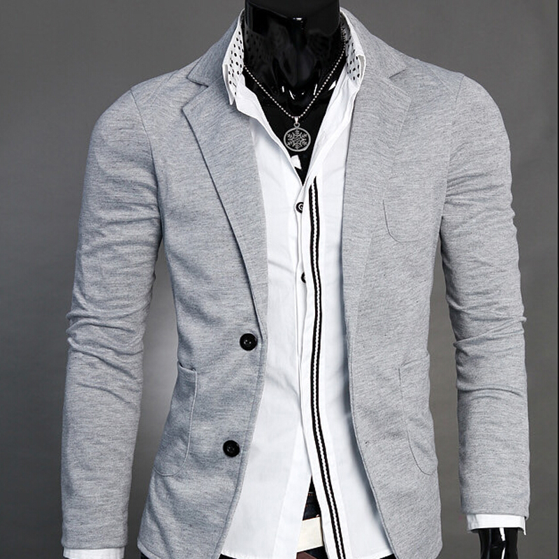 Men's Suit Blazers Two Button Casual DressSingle Breasted Jacket Formal Blazer Slim...