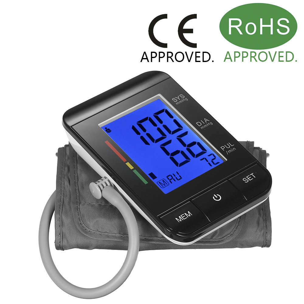59911d41405 LCD Upper Arm Blood Pressure Monitor with Cuff Digital Pulse Rate/2 User  Mode
