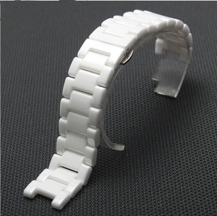 Watch accessories diamond white ceramic watchband watch general 18mm 20mm