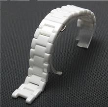 Смотреть аксессуары алмаз белые керамические ремешок для часов часы целом 18 мм 20 мм